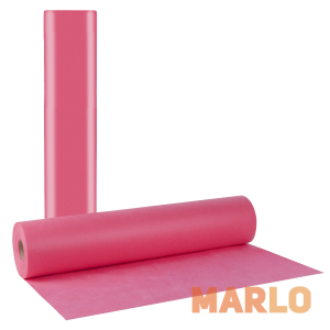 Еднократни TNT чаршафи на ролка розови 20gr - 68cm x 70m