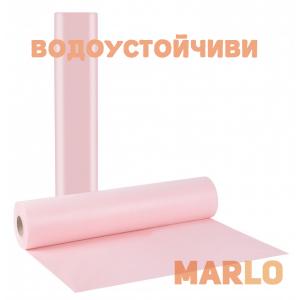 Водоустойчиви Еднократни Термопластични чаршафи на ролка светло розов - 68cm x 50m