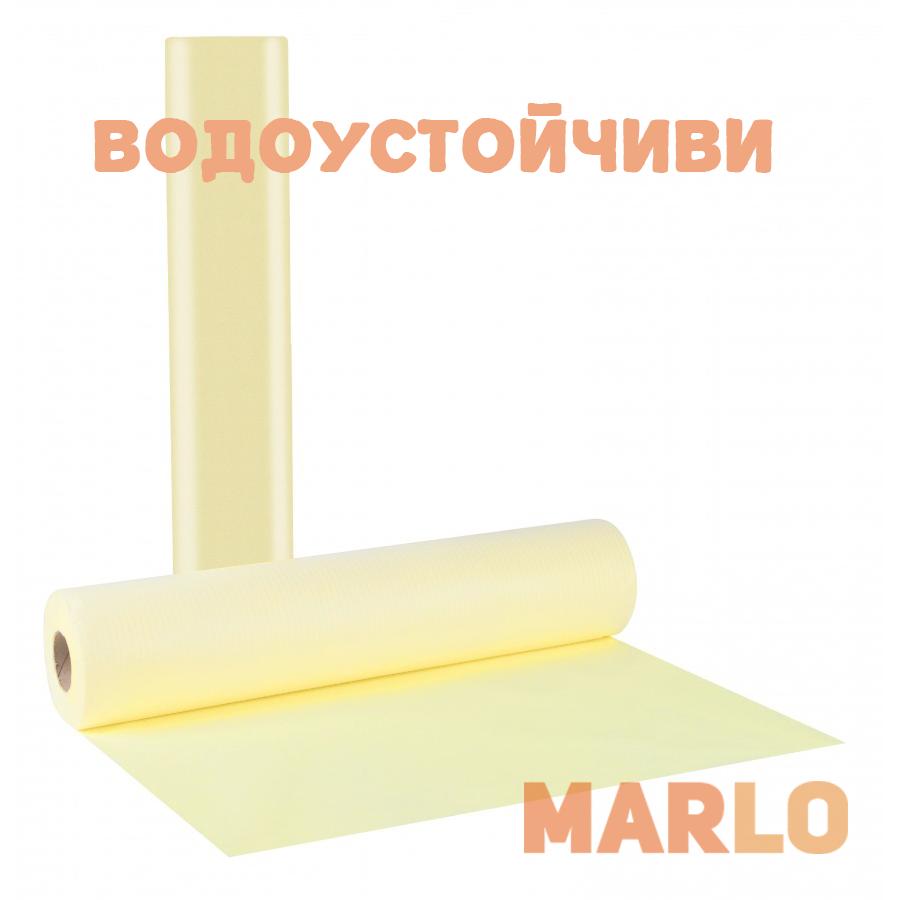 Водоустойчиви Еднократни Термопластични чаршафи на ролка жълт – 58cm x 50m
