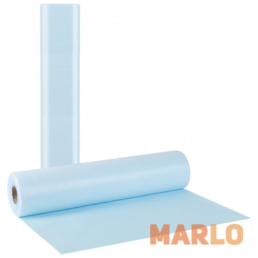 Водоустойчиви Еднократни Термопластични чаршафи на ролка светло сини – 58cm x 50m