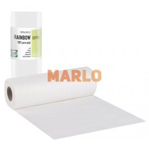 Дентални кърпички на ролка за защита на пациента - Бели