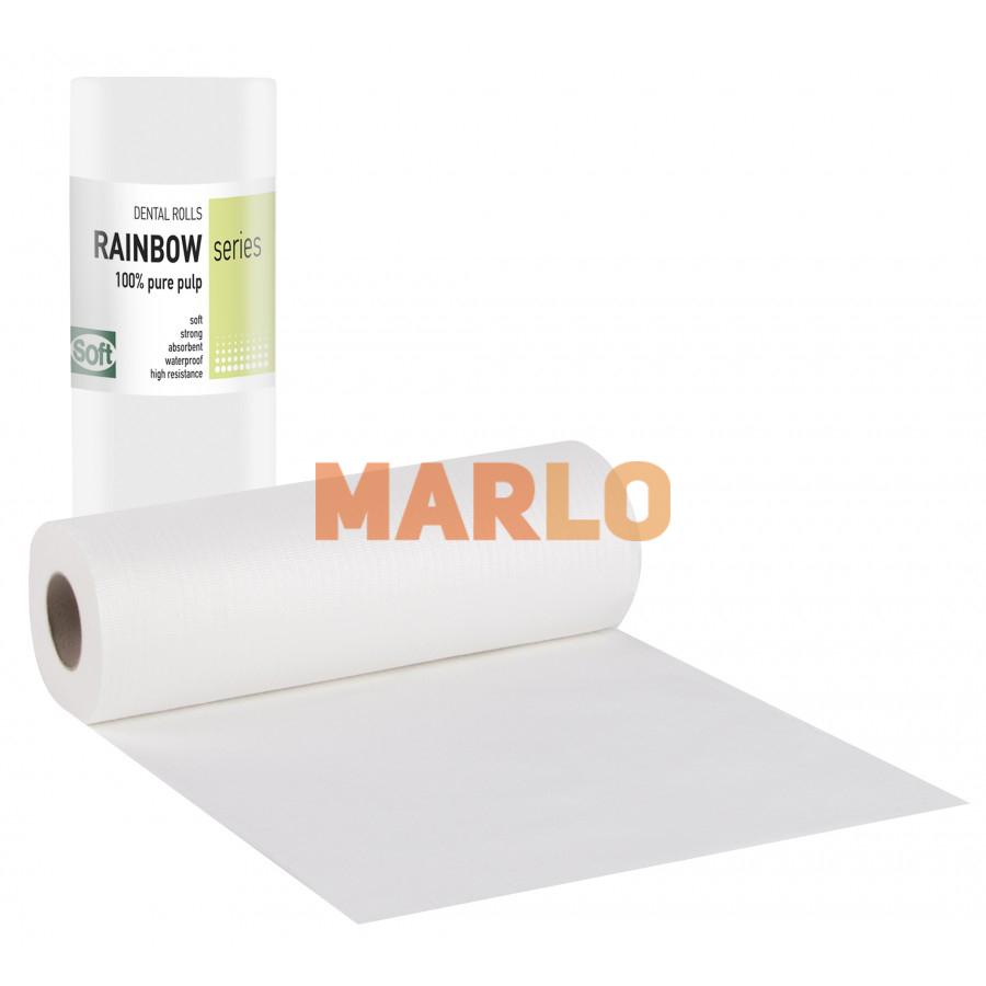 Дентални кърпички на ролка за защита на пациента – Бели