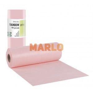 Дентални кърпички на ролка за защита на пациента - Розови