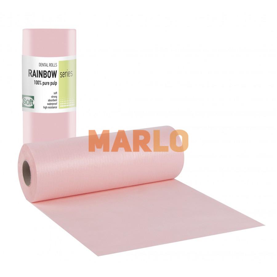 Дентални кърпички на ролка за защита на пациента – Розови