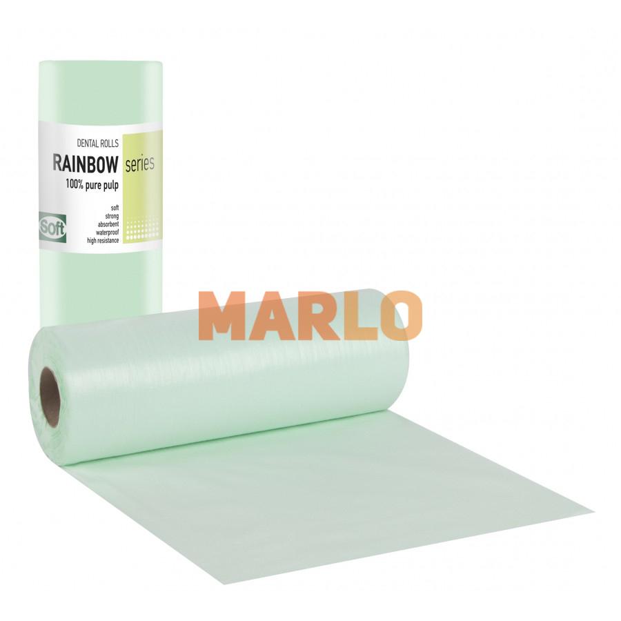 Дентални кърпички на ролка за защита на пациента – Зелени