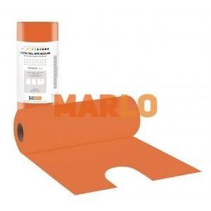 Стоматологичен лигавник с деколте на ролка - Оранжев