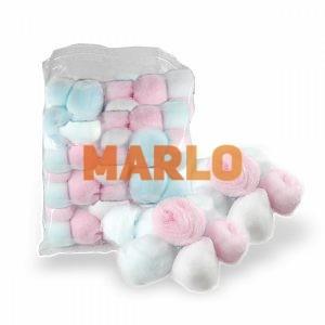 Памучни топки Цветни 40 бр