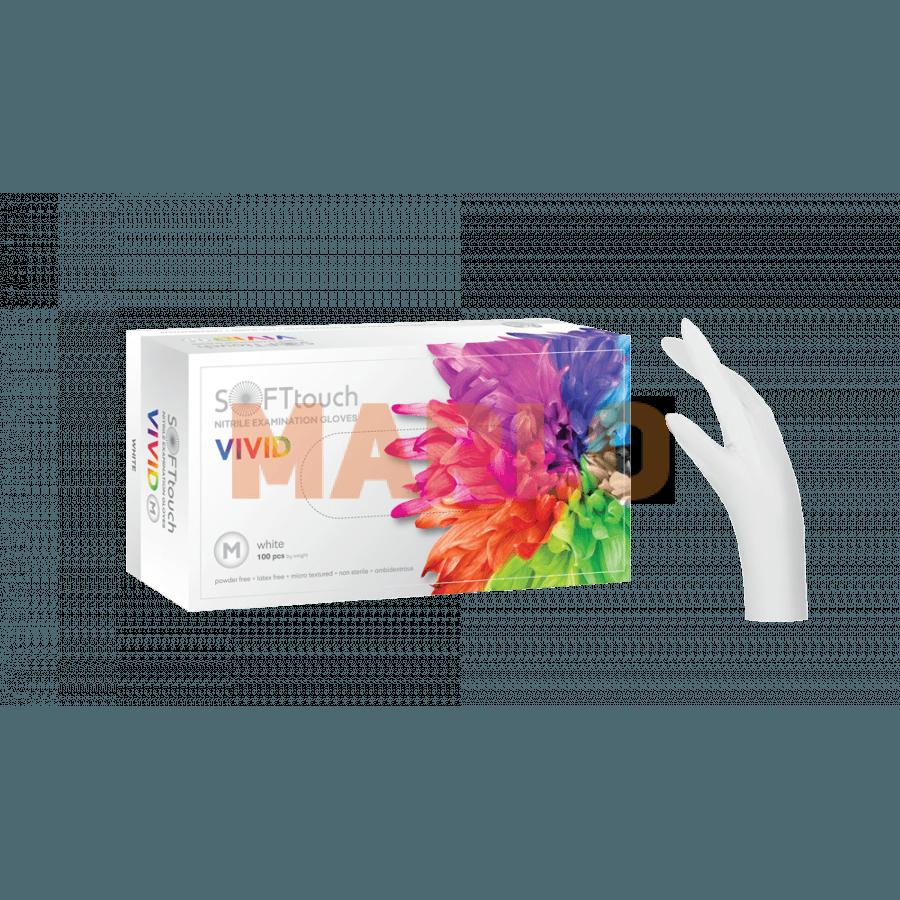 Soft Touch Нитрилни Vivid ръкавици 100 бр – Бели