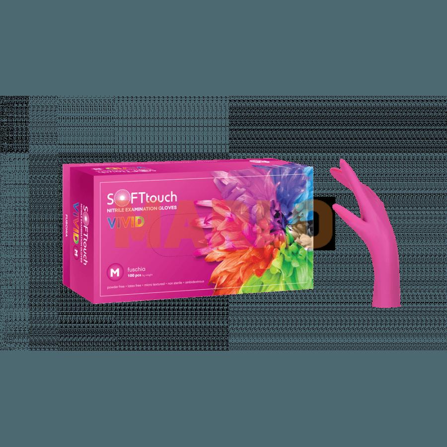 Soft Touch Нитрилни Vivid ръкавици 100 бр – Розови