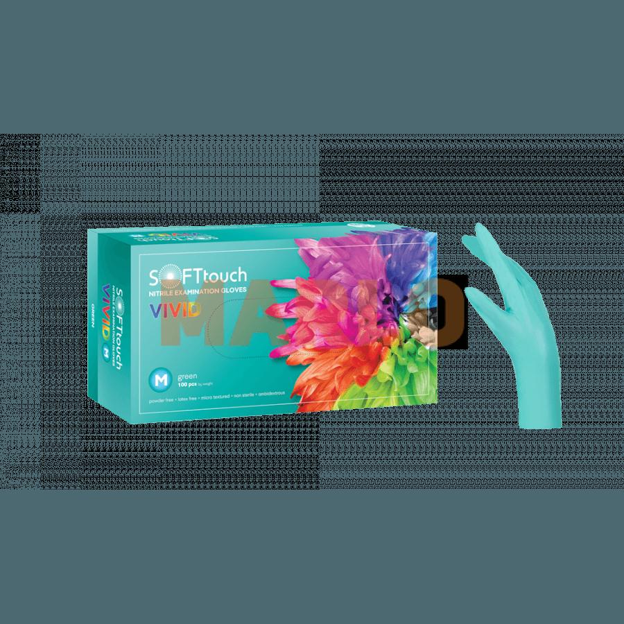 Soft Touch Нитрилни Vivid ръкавици 100 бр – Зелени