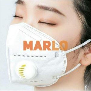 Противовирусна маска N95 с клапа бяла